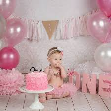 1st birthday girl cake smash birthday banner custom birthday banner girl cake