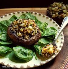 rice stuffed portobello mushrooms connoisseurus veg