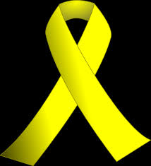 black and yellow ribbon yellow ribbon w black background clip at clker vector