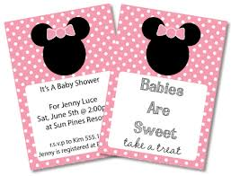 minnie mouse thank you cards baby shower invitation cards minnie mouse invitations baby shower