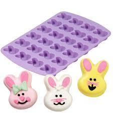 bunny mold 24 cavity bunny silicone mold wilton