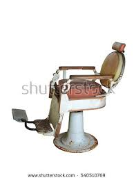 Old Barber Chair Old Barber Chair Isolated On White Stock Photo 540510769
