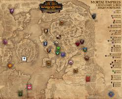 map new map mortal empires caign map w legendary lord start