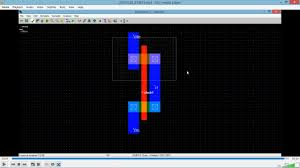 layout design cmos cmos inverter layout design using microwind youtube