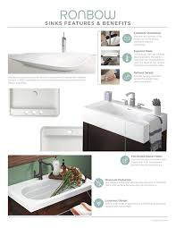 ronbow 20 inch undermount ceramic vessel bathroom vanity sink in