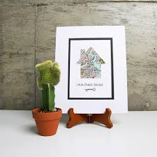 New House Gift Our First Home Personalized Home Map Key Gift New House