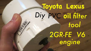 lexus with toyota engine 2gr fe 3 5l v6 toyota lexus diy oil filter tool youtube