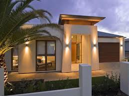 elegant simple design exterior architectural lighting and wooden