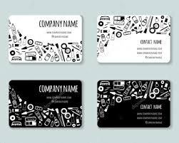 Hairdresser Business Card Templates Business Creative Cards Template With Beauty Items Stock Vector