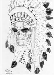 drawn tattoo indian pencil and in color drawn tattoo indian