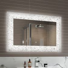 bathroom mirror heated led bathroom mirrors tags mirrored bathroom cabinet with shaver