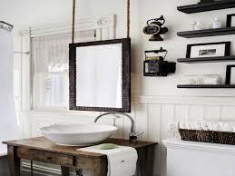 rustic chic bathroom decor hanging bathroom mirror restoration