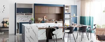 cuisine blanc et noyer cuisine moderne ambiance contemporaine mobalpa