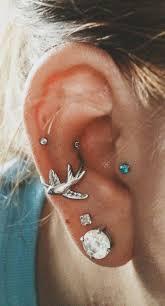 ear piercing hoop these 30 ear piercing ideas tragus piercing jewelry conch