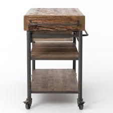 wood kitchen island cart industrial reclaimed wood kitchen island cart on wheels zin home