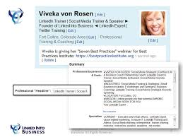 linkedin summary best practices copyright linked into business all rights reserved 1 seven best