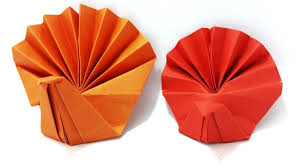 origami turkey how to make paper turkey simple