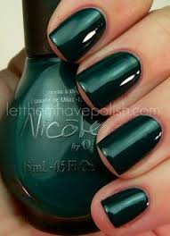 awesome picture of dark green nail polish nicole by opi nail