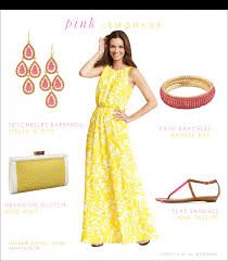 Yellow Dresses For Weddings Yellow And Pink Pink Accessories Yellow Dress And Casual Summer