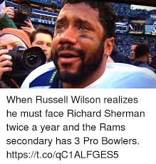 Richard Sherman Memes - when russell wilson realizes he must face richard sherman twice a