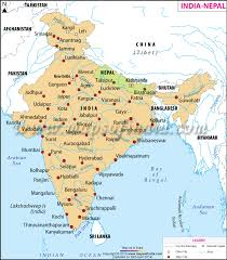 map of nepal and india map of india and nepal india nepal map
