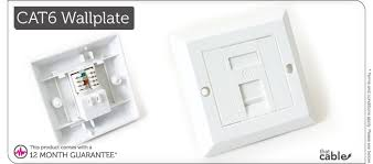 single port cat6 idc wall outlet rj45 1 way face plate network