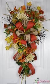 autumn fall teardrop swag by gaslight floral design