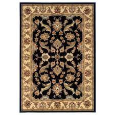 Black And Cream Rug Lr Resources Rugs Flooring The Home Depot