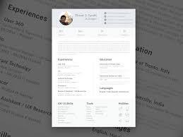 Ui Ux Resume Single Page Resume Sketch Freebie Download Free Resource For
