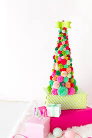 Homemade Pom Pom Decorations Diy Pom Pom Christmas Tree