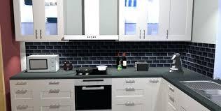 cuisine metro credence noir mat cuisine mat mee aluminium credence verre noir mat