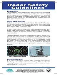 radar safety guidelines pdf radio frequency electromagnetic