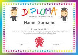 diplomas de primaria descargar diplomas de primaria niños en edad preescolar de la escuela primaria plantilla de