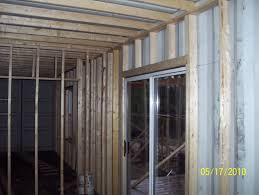 container house interior framing and screened porch
