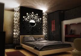 Interior Bedroom Design With Alluring Wall Decoration Again Art - Interior bedroom designs