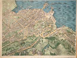 Birds Eye View Maps A Birds Eye View Map Of Auckland New Zealand Compiled And Drawn