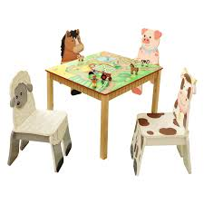 study table and chair fantasy fields happy farm table and chair set hayneedle