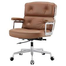Small Leather Armchair M310 Office Chair In Aniline Leather Color Options