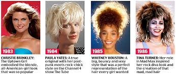 pictures of 1985 hairstyles beyond the fringe from the purdey to the rachel 50 years of