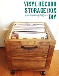 diy lp vinyl record storage box with wheels do it yourself home