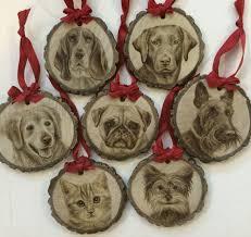 wood burned pet ornaments on behance