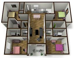 2 Bedroom Apartments In Bloomington Il by 4 Bedroom 4 Bath Student Apartment Near Isu The Edge