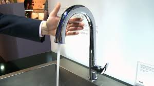 touch on kitchen faucet kohler sensate touchless faucet