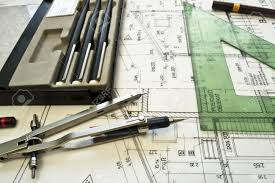 architectural plan technical project drawing technical letters