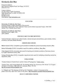Curriculum Vitae Sample Cover Letter by Example Science Cvs And Cover Letters Current Undergraduates The