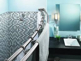 bed bath and beyond shower curtain rods u2014 contemporary