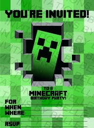 free printable birthday invitations minecraft idea free printable minecraft birthday invitations for printable