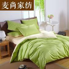 custom solid color bedding set green 50 silk satin bedding sets