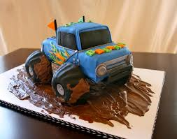 blue 3d monster truck cake by sweet intentions colorado cakes
