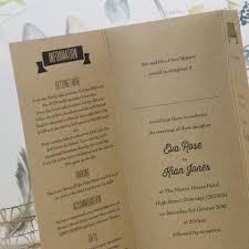 Tri Fold Invitations All You Need Kraft Tri Fold Wedding Invitation U2013 Love Wedding Print